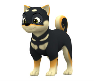 3D shiba inu puppy model