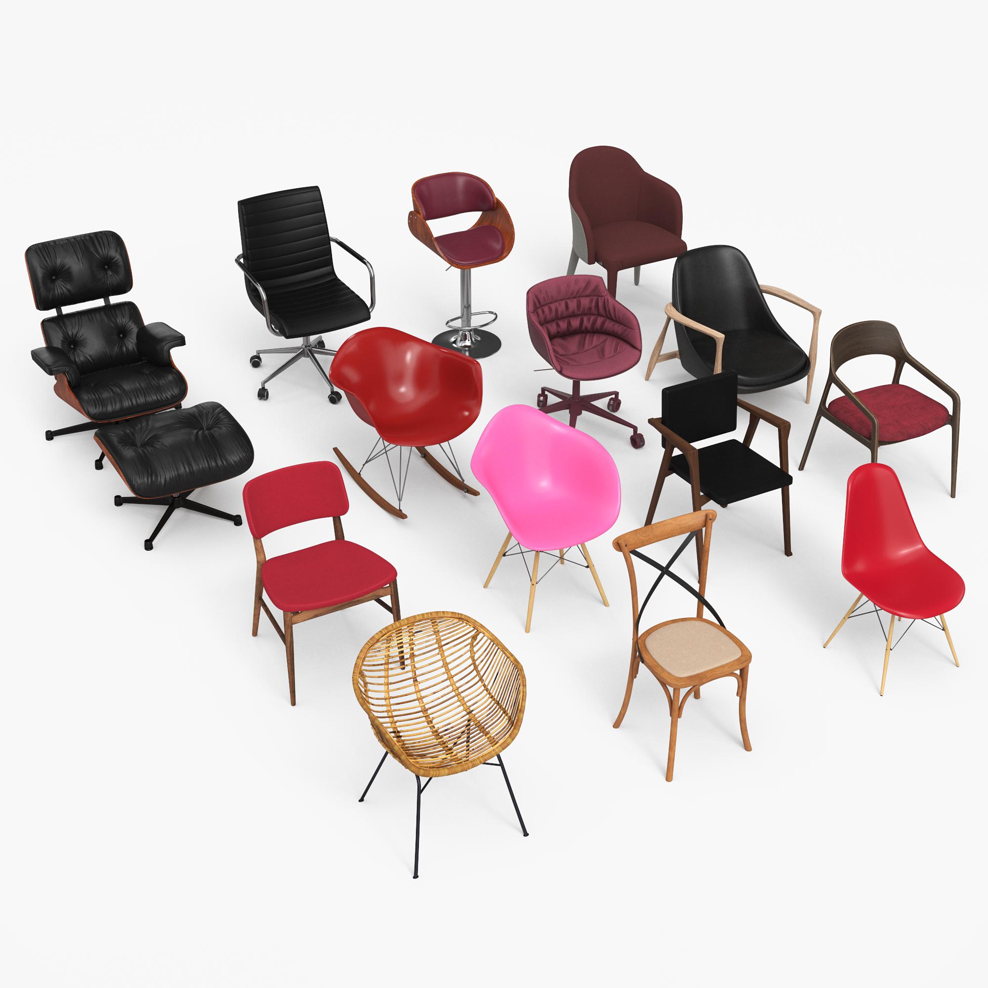 chair eames - armchair 3D model