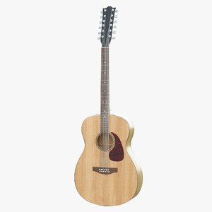 string acoustic guitar 3D