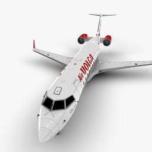 volga bombardier crj 200 3D model