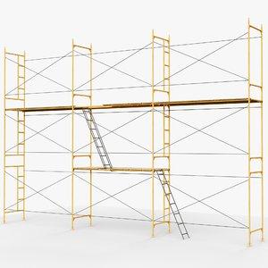 scaffolds modular gameready ar 3D model