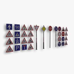 3D traffic signs