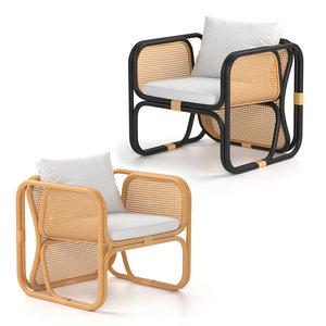 armchair chair rattan model