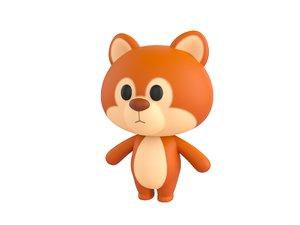 squirrel character 3D model