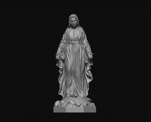 virgin mary print 3D model