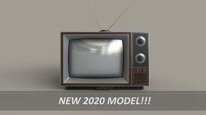 classic television 3D model