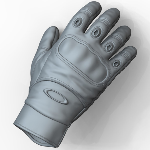 3D zbrush military tactical gloves