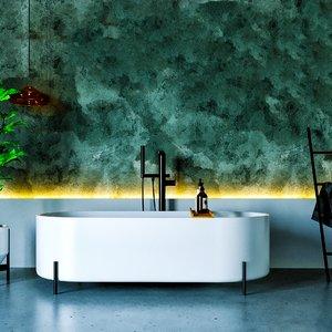 bath interior scene 3D model
