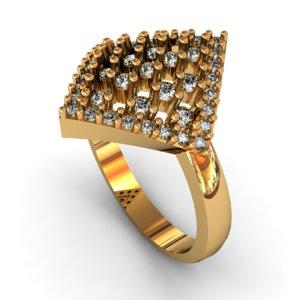 3D model gem ring engagement