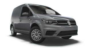 3D volkswagen caddy uk-spec trendline