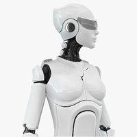 Female Cyborg Robot Rig