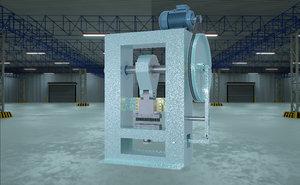 eccentric press - glass 3D model