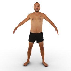 guy t pose 3D