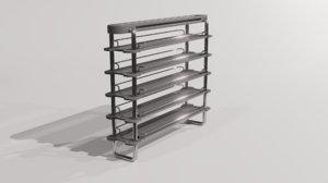 3D model lab shelf furniture