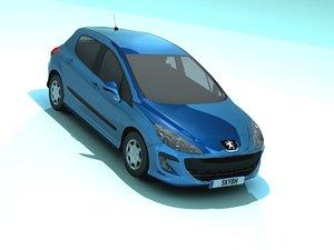3D peugeot 207 model