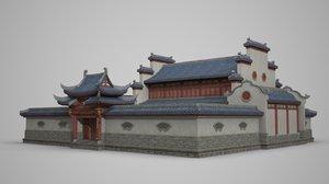 ancient building luxurious 3D model