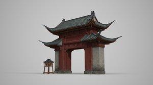 3D ancient building luxurious model