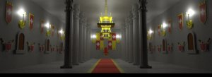 cartoon castle throne room 3D model