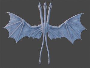 3D model creature monster dragon