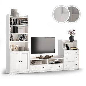 3D combination storage tv hauga model