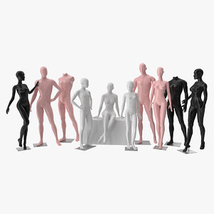3D model mannequin dummy