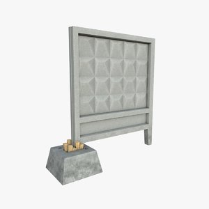 3D fence concrete model