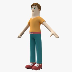 casual boy character 3D model