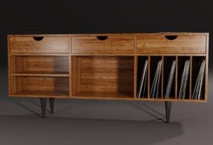 3D realistic vintage furniture