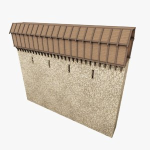 medieval wall 3D model