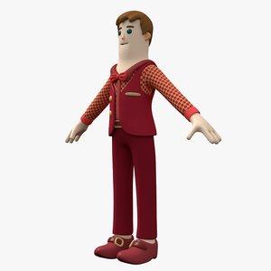 3D presenter boy model