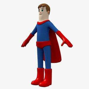 3D hero boy