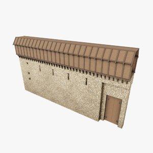 medieval wall ii model