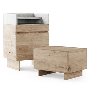 3D console bedside table