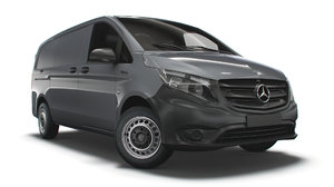 3D mercedes benz e vito model