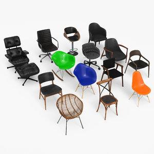 chair eames - armchair 3D