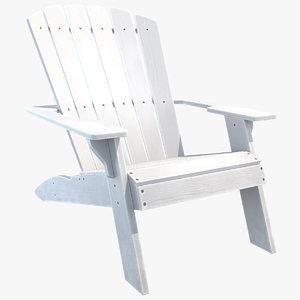 3D beach chair