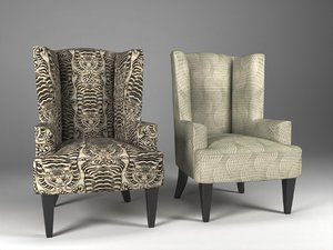 3D brockton wing chair model