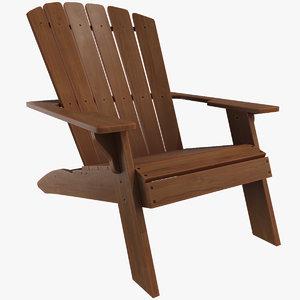 adirondack chair furniture 3D model