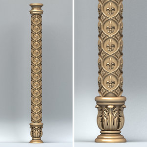 cnc column 3D
