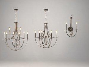 3D chandelier elk lighting model