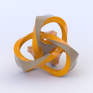 3D symbol shape sculpture model
