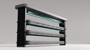3D plant shelf furniture model