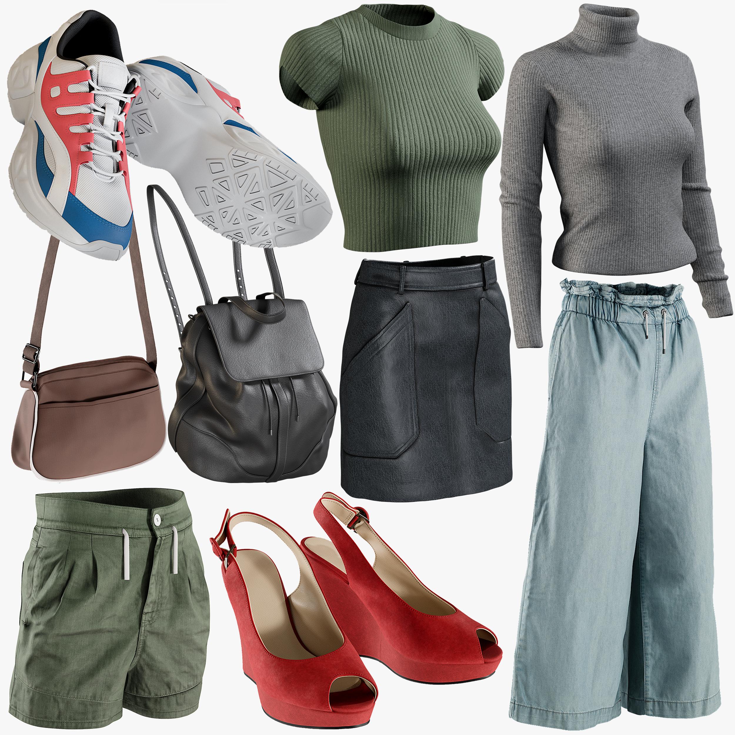 realistic clothing mix 11 3D model