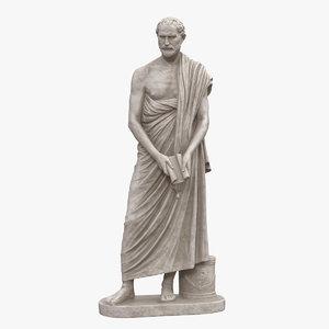 3D model demosthenes statue