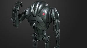 super battle droid 3D model