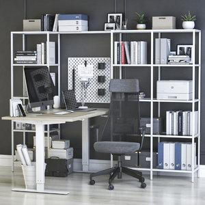 3D office chair shelving model