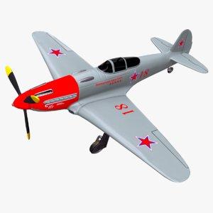 3D yakovlev yak-3 fighter plane model