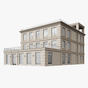 classic multiplex building house model