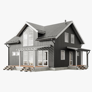 3D model modern cottage house