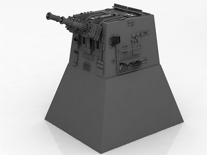 wars turret laser cannon 3D model